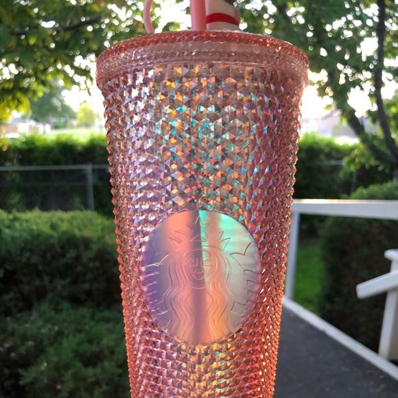 Starbucks Coral Pink studded tumbler
